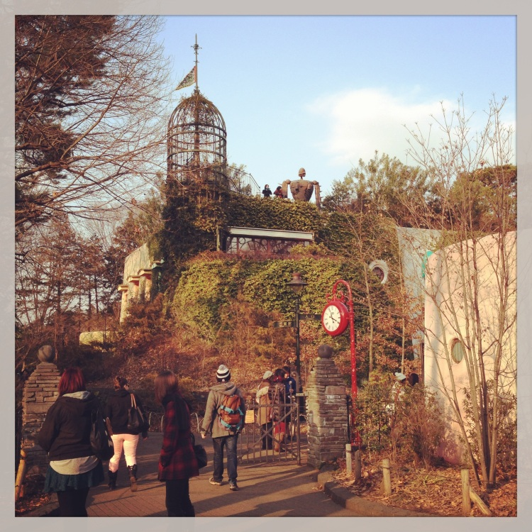 Entering the Ghibli Museum