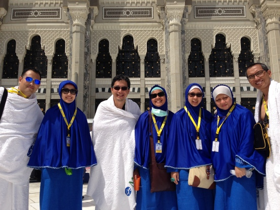 Saya dan rekan-rekan selepas Umrah untuk Haji