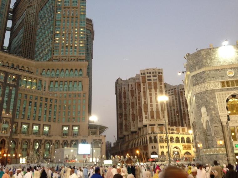 Suasana di sekitar Masjidil Haram Makkah
