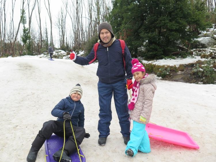 Snow Toboggan di Lake Mountain